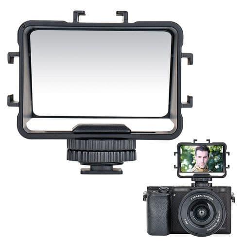 Miroir À Bascule Support Sur Sabot Pour Vidéo Vlog En Streaming Et Selfie